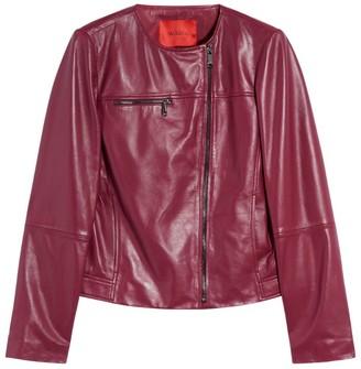 Max & Co. Leather Logo-Zip Jacket