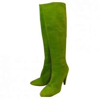 Maison Margiela Green Suede Boots