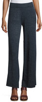 Minnie Rose La Playa Palazzo Pants, Navy, Plus Size