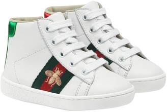 Gucci Kids Toddler's leather high-top sneakers