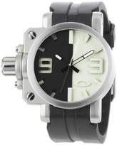 Oakley Men's 10-063 Gearbox Brushed Black and Tan Dial Watch