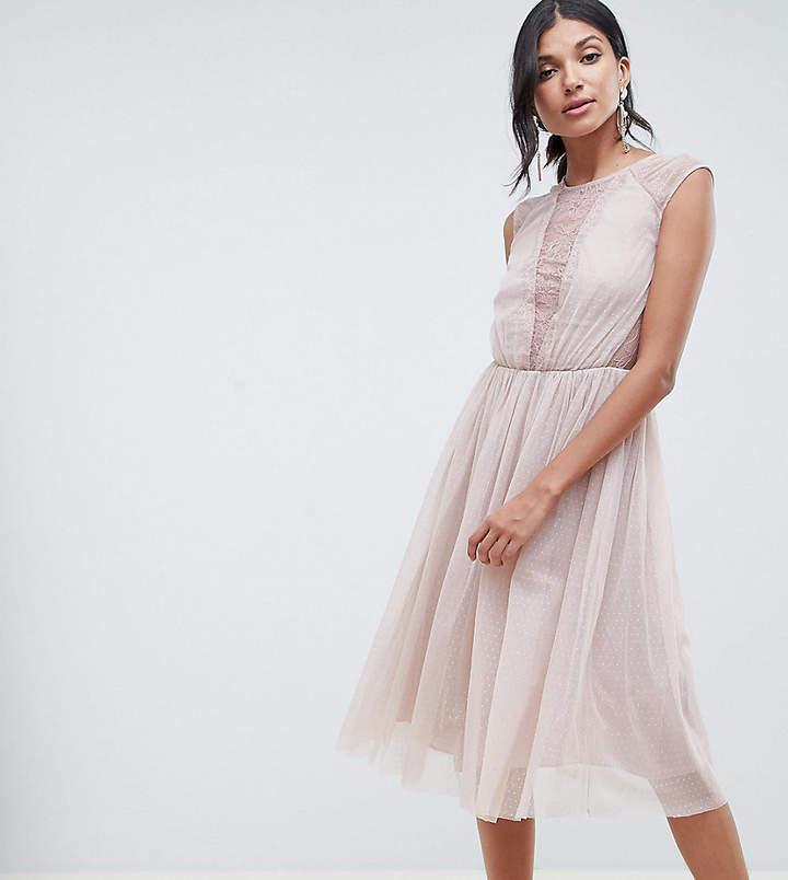 Asos Tall TALL Lace Insert T-shirt Midi Dress