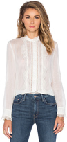 Cacharel Ruffle Front Blouse