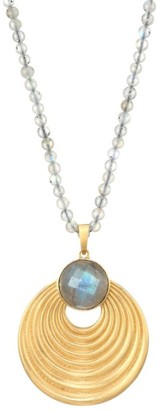 Dean Davidson Savannah Labradorite & 22K Goldplated Gem Pendant Necklace