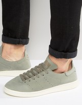 Adidas Originals Stan Smith Lea Sock Trainer In Green Bb0007