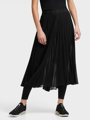 DKNY Pull On Pleated Skirt With Leggings