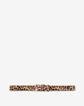 Express Leopard Calf Hair Belt
