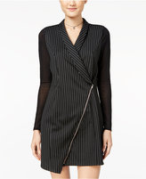 Material Girl Juniors' Pinstripe Tuxedo Dress
