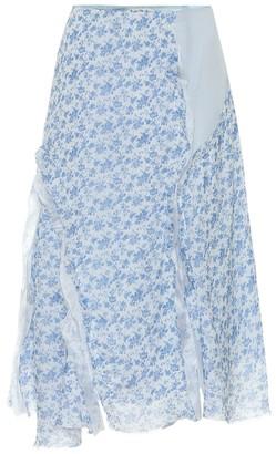 Acne Studios Floral chiffon skirt