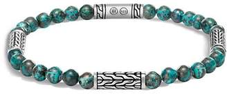John Hardy Sterling Silver Classic Chain Station & Chrysocolla Bead Bracelet, 5mm
