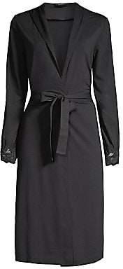 La Perla Women's Short Lace-Trim Robe