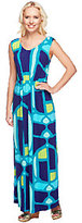 Isaac Mizrahi Live! Regular Mosaic Print Maxi Dress