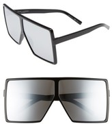 Saint Laurent Women's Betty 68Mm Square Sunglasses - Black/ Silver