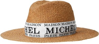 Maison Michel Zango logo-embroidered fedora
