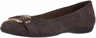 Trotters Women's Sizzle Ballet Flat Dark Brown 11