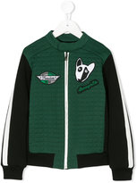 Dolce & Gabbana quilted panel embroidered patch jacket