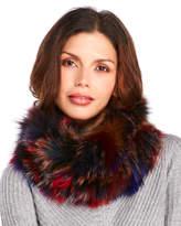 Annabelle Multicolor Real Fox Fur Neck Warmer