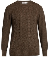 Inis MeÁin Aran-knit Alpaca And Silk-blend Sweater