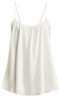 Loup Charmant Scoop-neck Silk Tank Top - Womens - Ivory