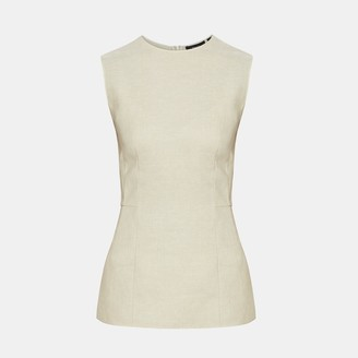 Theory Pure Linen Paneled Top
