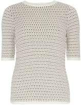 Dorothy Perkins Nude zip back stitch jumper