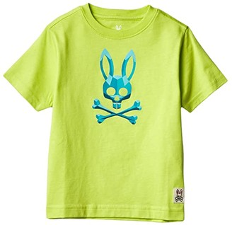 Psycho Bunny Kids Fremlin Graphic Tee (Toddler/Little Kids/Big Kids) (Lime) Boy's Clothing