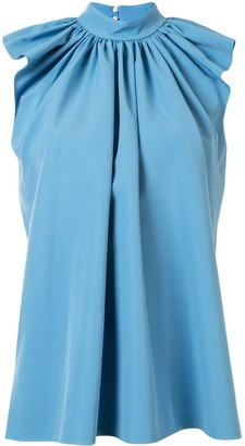 Victoria Victoria Beckham Gathered Flutter-Sleeved Blouse