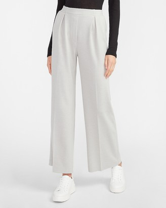 Express High Waisted Pleated Pull-On Trouser Pant