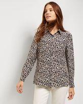 Jaeger Silk Spot Animal Print Blouse