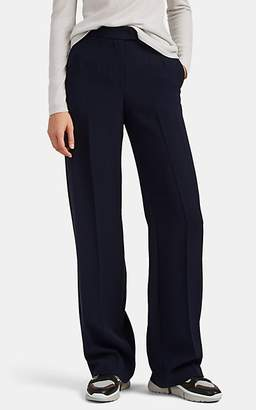 Giorgio Armani Women's Silk Crepe Wide-Leg Trousers - Navy