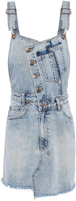 Ksubi Frayed Faded Denim Mini Dress