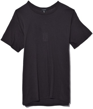 R 13 Cotton Cashmere Boy T in Washed Black