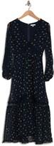 Thumbnail for your product : Lucy Paris Lace Panel Floral Midi Dress