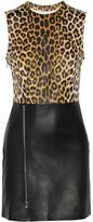 3.1 Phillip Lim Leopard-print paneled leather dress