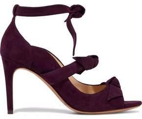 Alexandre Birman Bow-Detailed Suede Sandals
