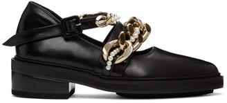 Simone Rocha Black Pearl and Chain Loafers