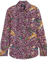 J.Crew + Drake's Printed Silk-twill Shirt - Merlot