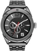 Mossimo Men's Oversized Analog and Digital Watch in Black with Decorative Subdials