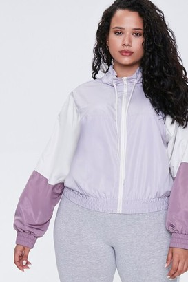 Forever 21 Plus Size Colorblock Windbreaker