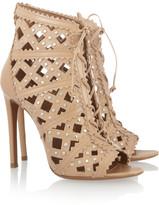 Alaia Studded cutout leather sandals