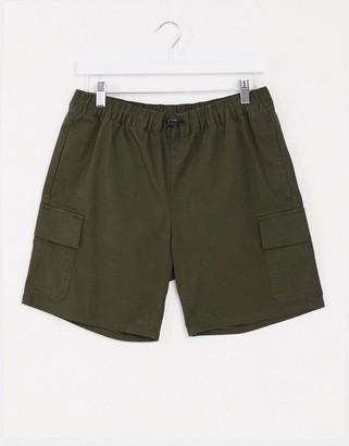 ASOS DESIGN cargo shorts in khaki
