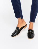 Faith Backless Leather Loafers