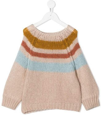 Longlivethequeen Striped Chunky-Knit Jumper