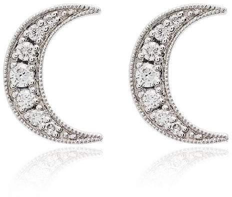 Andrea Fohrman white gold crescent moon diamond earrings