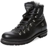 Roberto Cavalli Men's Leather Fur Lined Boot