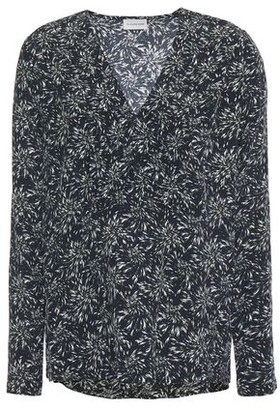 By Malene Birger Pintucked Printed Crepe De Chine Blouse