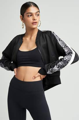 Pam & Gela Crop Track Jacket W Sports Stripe