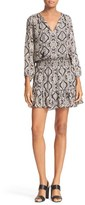 Joie Women's Kleeia Print Silk Blouson Dress