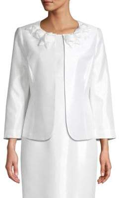 Kasper Three-Quarter Sleeve Jacket