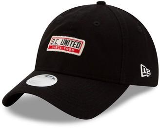 New Era Women's Black D.C. United Patch 9TWENTY Adjustable Hat